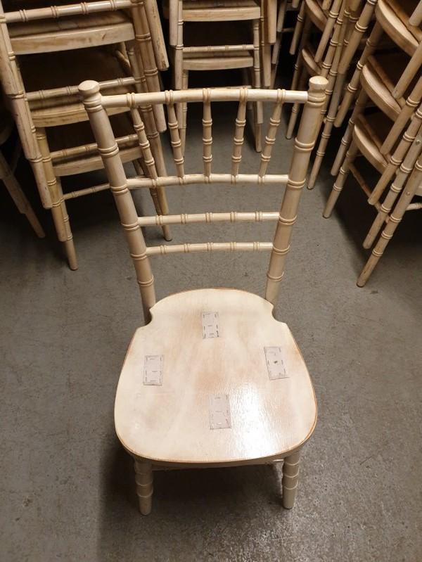Limewash Chiavari Chairs For Sale