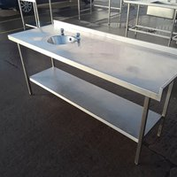 Used Stainless Steel Hand Sink Table (10392)