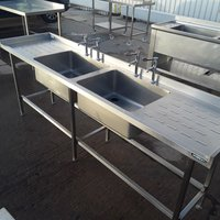 Used Moffat Stainless Steel Double Sink (10391)