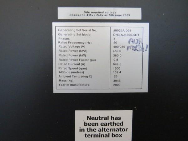 450Kva Generator