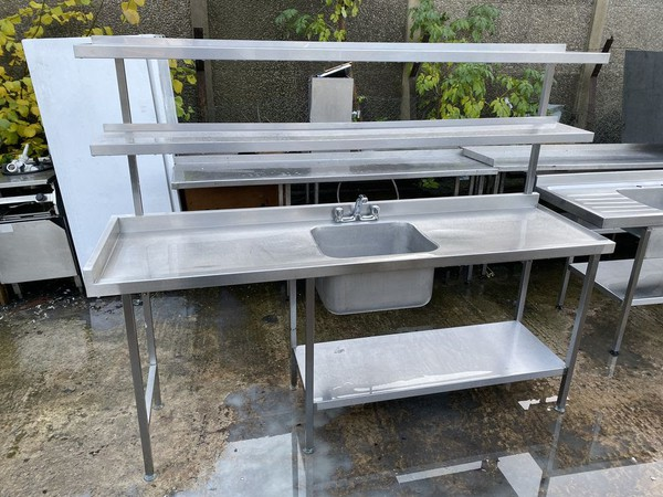 Single Bowl Stainless Steel Sink With Shelving - Sheffield, South Yorkshire