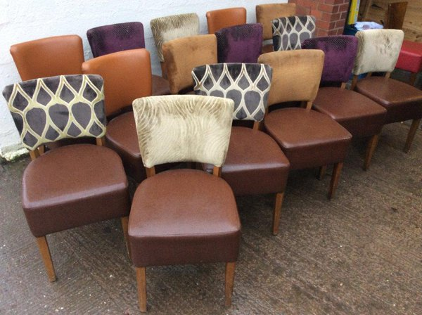 Mixed restaurant chairs for bar, pub or restaurant
