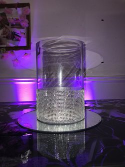 Diamante Vase Table Centres For Sale