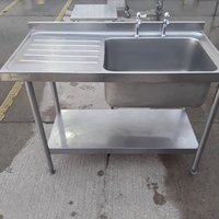 Used Bartlett B Line Stainless Steel Single Bowl Sink	(10405)