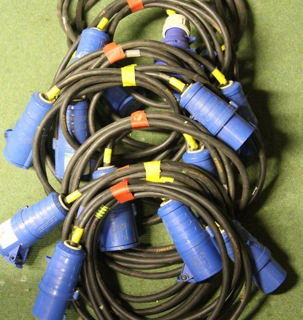 Buy 3m Extension Lead 230 Volts 16a in & 16a Out Black HO7 Cable