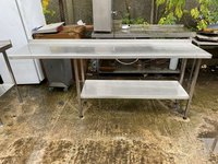 Reconditioned  2.1m Narrow Stainless Steel Table