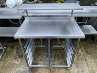 1m Stainless Steel Table With Bakery Tray Runners