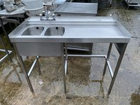 Double Stainless Steel Glasswasher/Bar Sink
