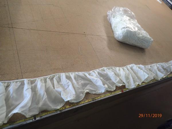 Used Valence Pelmet 38m Ivory Straight