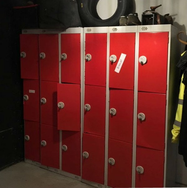 Lockers for the staff