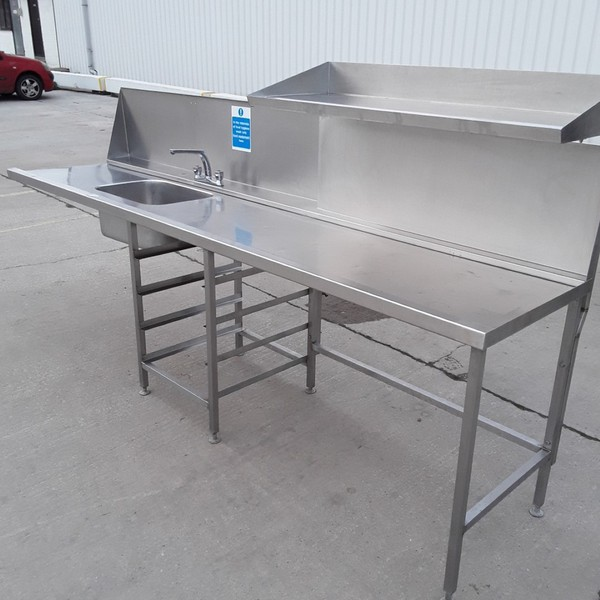 Used Stainless Steel Single Dishwasher Sink