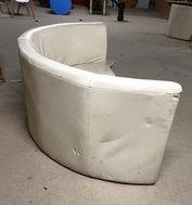 Cream leather modular corner seating arrangement