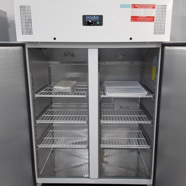 Commercial upright double fridge