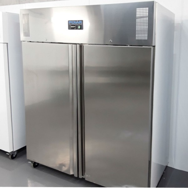 Stainless steel upright fridge