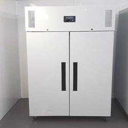Double white upright fridge