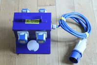 Distribution Box 32a 240v in 4 x 16amp Out
