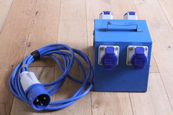 Metal Distribution Box 32a 240v in 4 x 16amp Out -