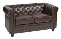 New Two Seater Chesterfields Sofa Chocolate Brown