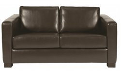 Two Seater Chocolate Brown Sofa For Sale