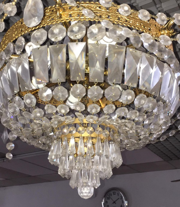 Gold / Lead Crystal chandelier for sale