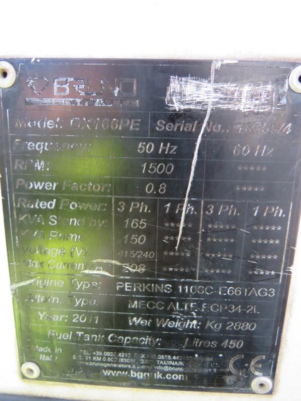 Perkins 150Kva Diesel Generator for sale