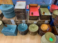 Dudson clearance stock in blue red and green