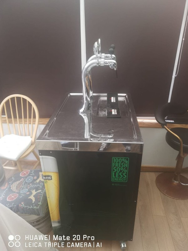 Secondhand beer dispenser