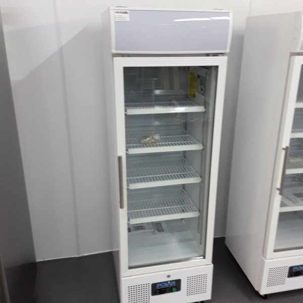 Glass door fridge