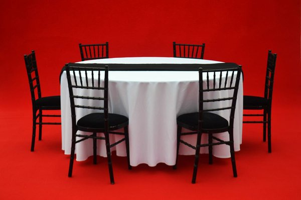 Black Chivari Chairs And Seat Pad