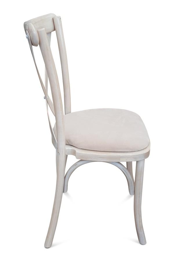 Buy Cross-Back Stacking Chairs Light Oak