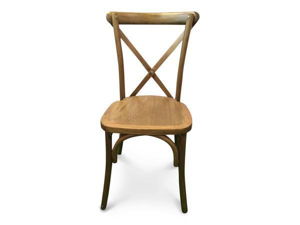 New Cross-Back Stacking Chairs Light Oak