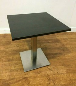 Job Lot New Wenge Laminate Tables With Steel Base