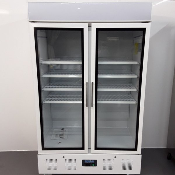 Polar CD984 Double Upright Display Fridge