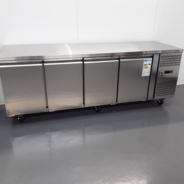 New B Grade Atosa EPF3442GR 4 Door Bench Fridge