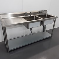 New B Grade Diaminox  Stainless Double Sink	(A10488)
