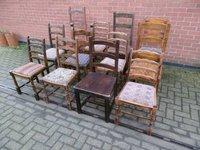 Job Lot of Ladder Back Restaurant Pub Dining Chairs