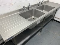 2.4m Double Stainless Steel Sink