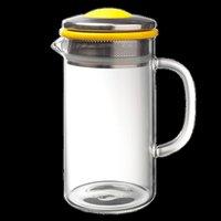 Brew Tea Co Glass Teapots with Yellow Trim