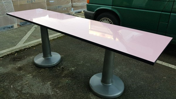 Pink Feature Dining Table for sale