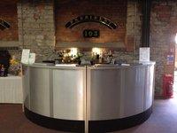 Silver Circular Mobile Bar
