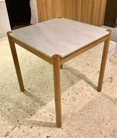 Secondhand Wooden Table White Marble Top
