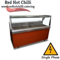 Heated serve over counter