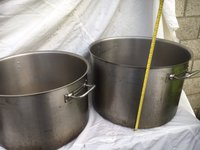 Stainless Saucepans Including 1 Very Heavy Bourgeat