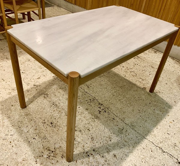 Wooden Tables with Marble Tops for sale