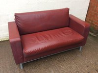 Red Sofa Settee For Sale