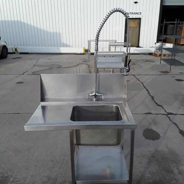 Used Stainless Steel Single Dishwasher Sink (10558)