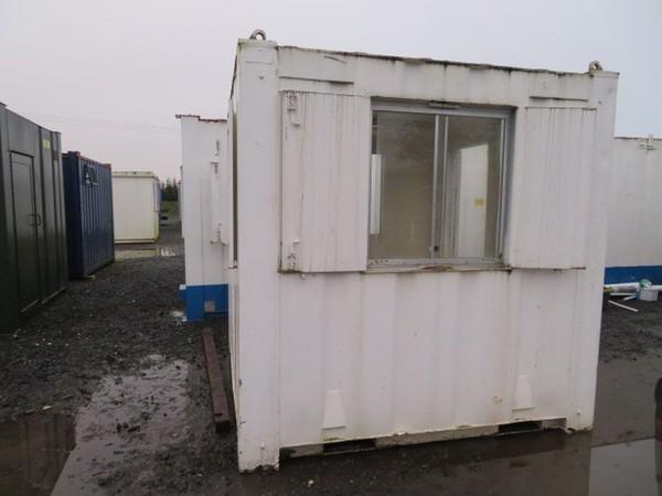 8ft x 8ft anti vandal office gate cabin