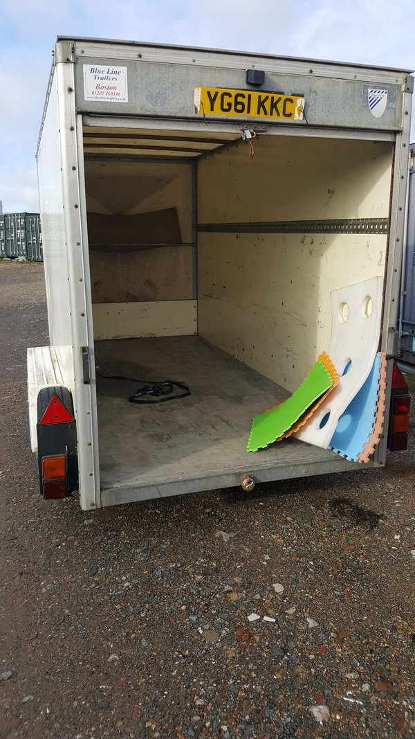 Large 4 Wheeled Box Trailer for sale