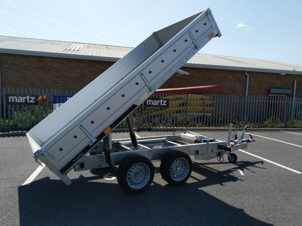 NEW Car trailer TIPPING TWIN AXLE 2700kg Tipper Electric ALUMINIUM SIDE 10x5 3mx 1.5