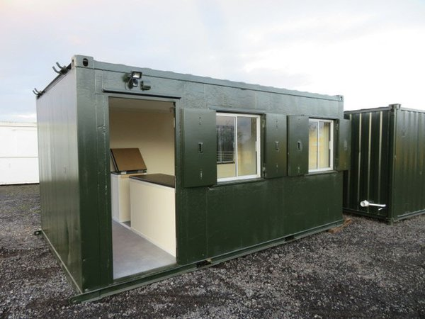 Anti vandal site office with counter